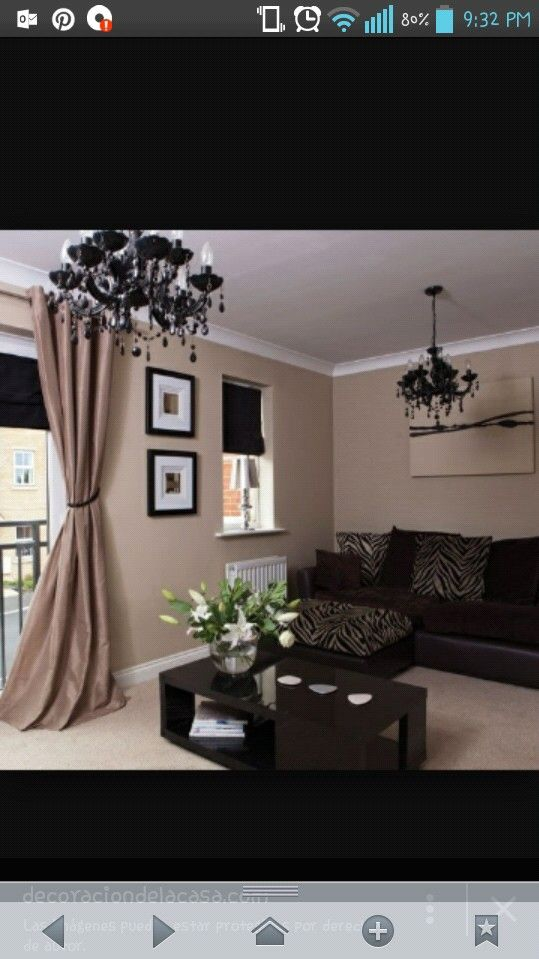 Fresh Living Rooms Painted Brown