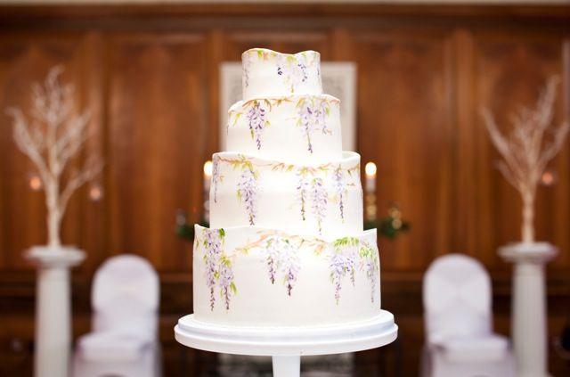 Wisteria 4 Tier Wedding Cake By Sylvias Kitchen Sylviaskitchenco