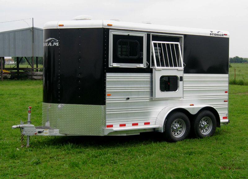 2 Horse Bravura black skin, bumper pull horse trailer