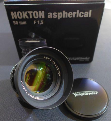 Voigtländer Nokton 50mm 1:1,5 ASPH.schwarz für Leica M M9 M8 gebraucht wie NEU!