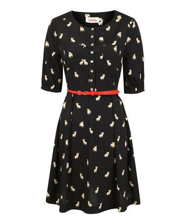 Another great find on #zulily! Black French Bulldog Catnna Shirt Dress #zulilyfinds