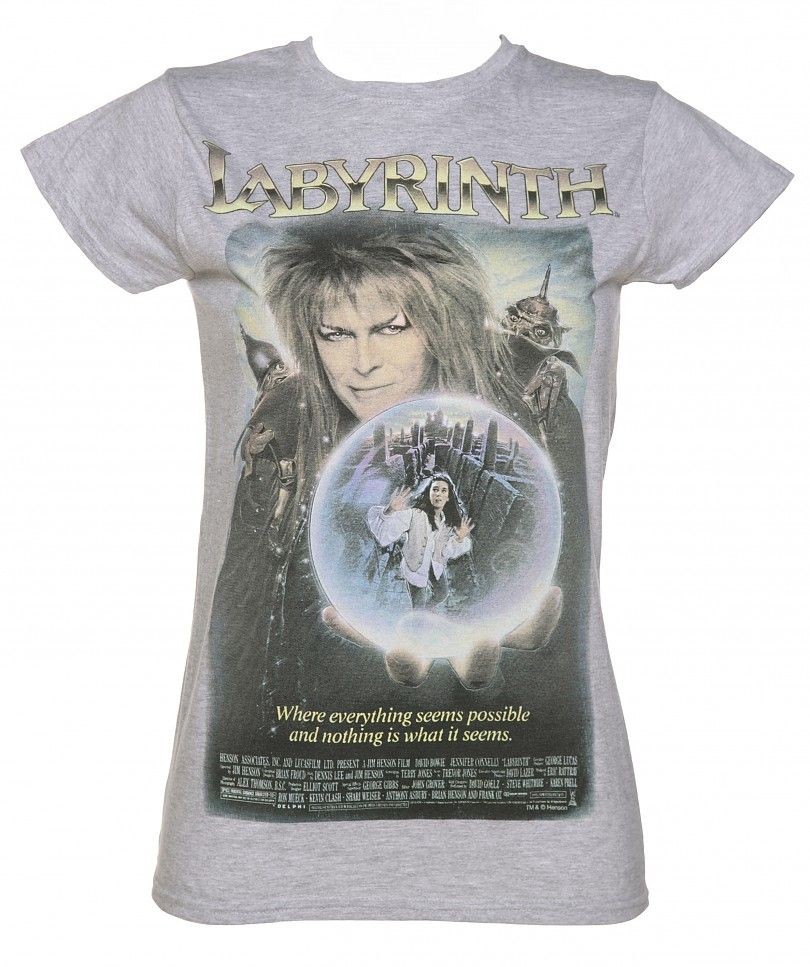 92a53bff9 Ladies Vintage Labyrinth Movie Poster T-Shirt : TruffleShuffle.com ...