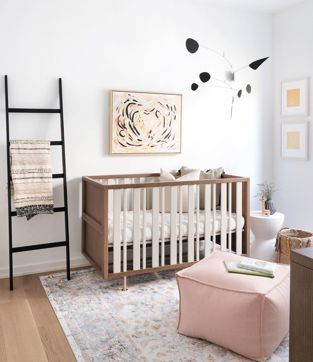 Cute Simple Modern Nursery From Our Projectteambull This Room Wasn T Originally In The Plans But Was Nursery Room Design Modern Nursery Nursery Room Decor