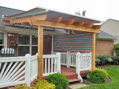 Pergola Awning With Side Shade