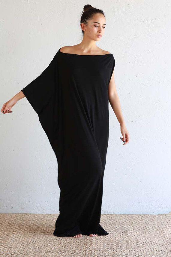 cd5d1ec27c10 Black Kaftan Dress - Beach Kaftan - Maxi Dress - Boho Dress - Black ...