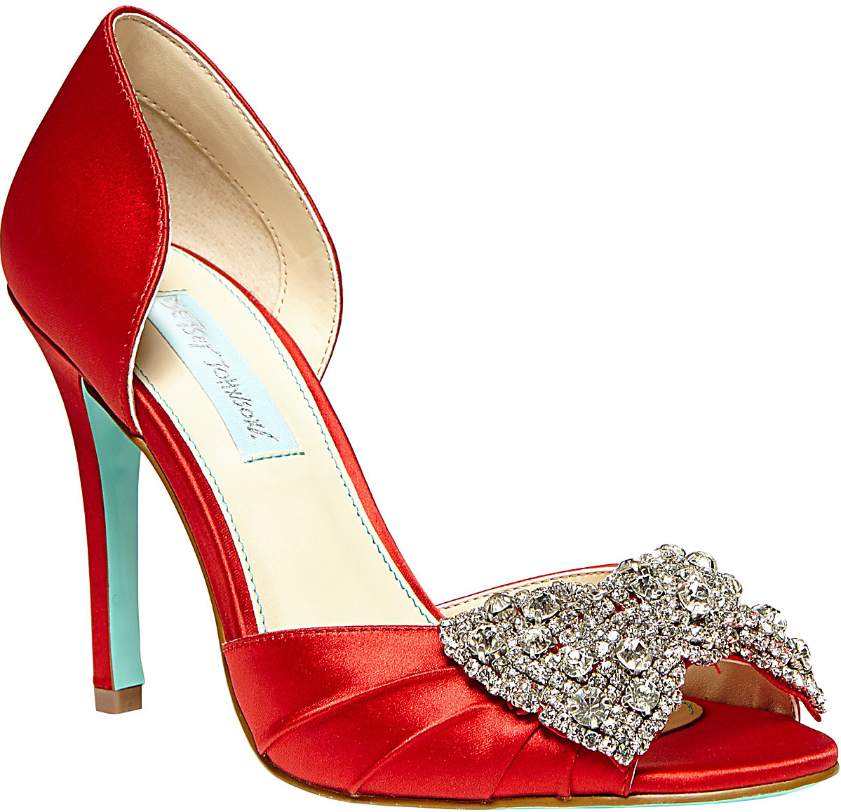 Betsey Johnson SB-GOWN Red Evening High Dorsey $129.00 #shoes #heels ...