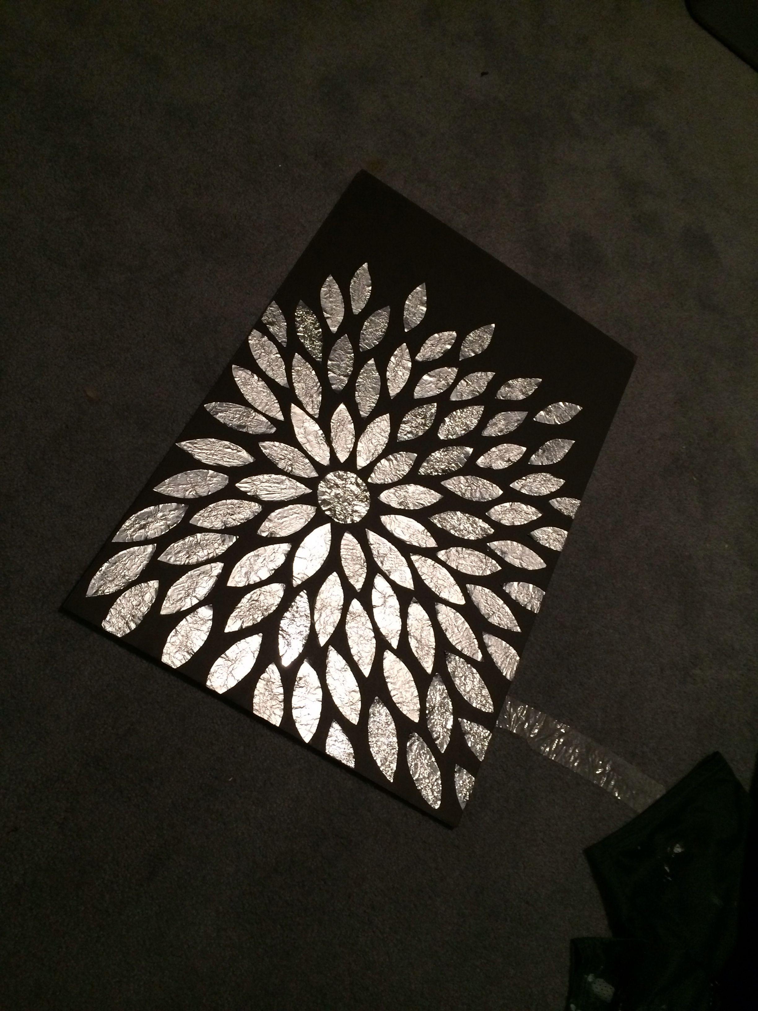 DIY Aluminum foil flower.   arts&crafts   Aluminum foil ...