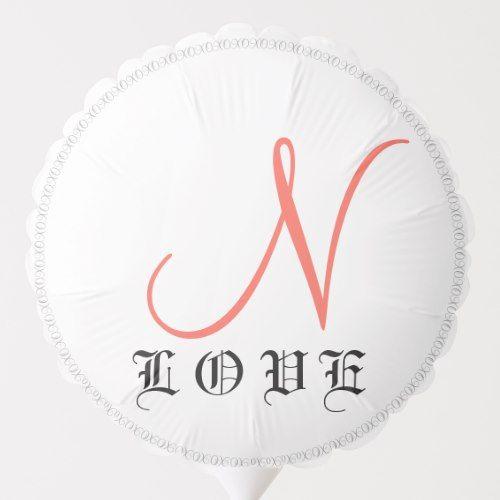 Monogram Turquoise Coral Just Married Wedding Balloon | Zazzle.com #turquoisecoralweddings