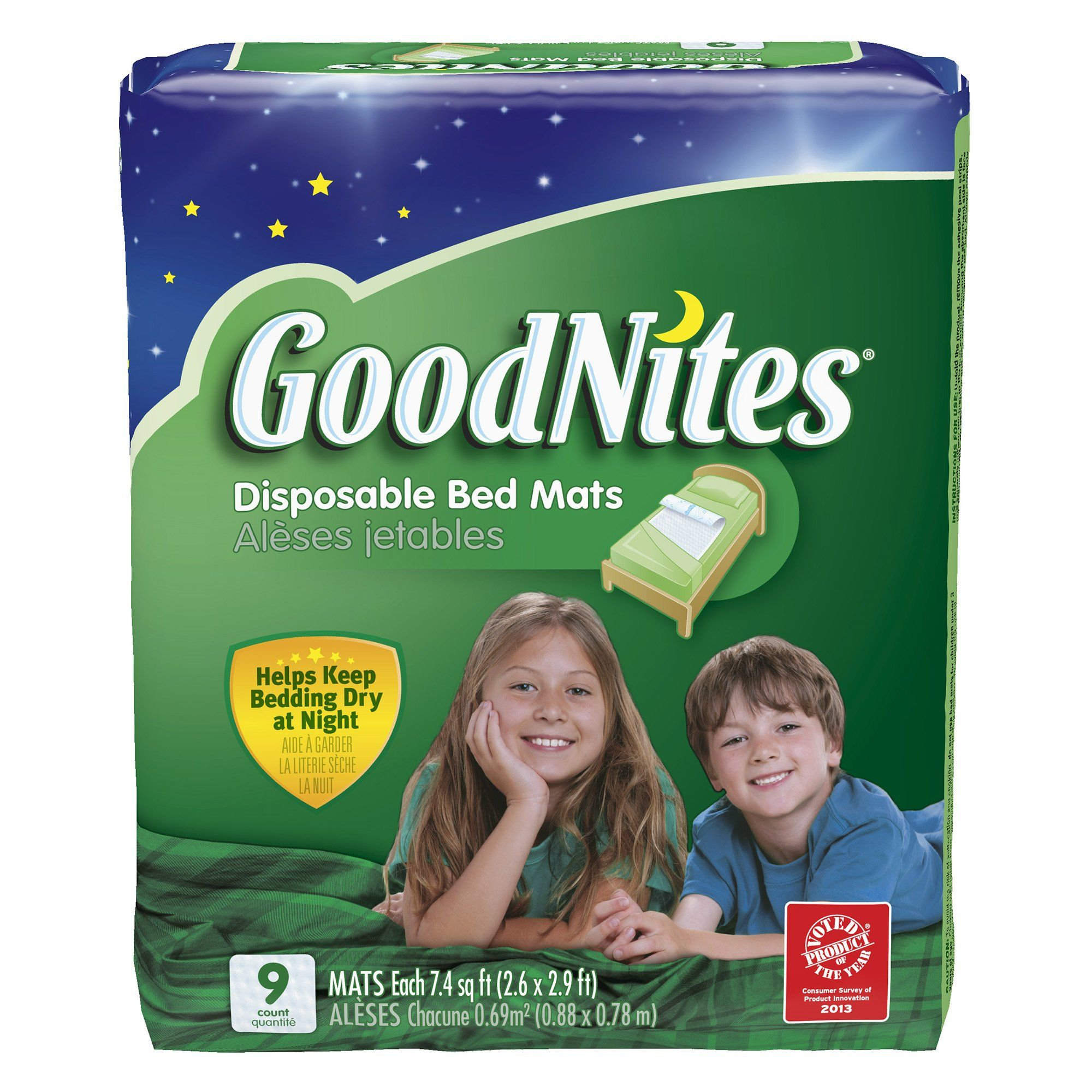 Goodnites Disposable Bed Mats 9 Count Bed Mats
