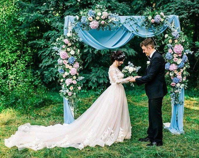 2 in 1 Passable and impassable Metal wedding round Arch Wedding Backdrop Floral Arch Bohemian Backdrop Ceremory Arch
