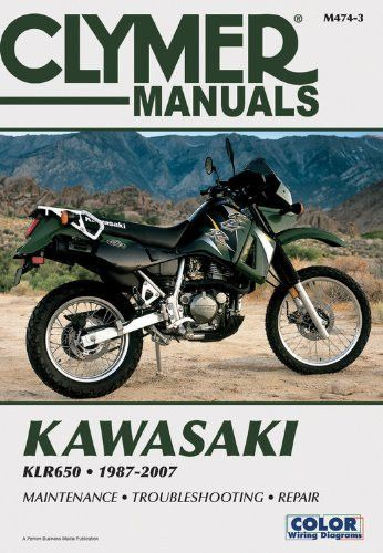 kawasaki klr650 1987 2007 (clymer color wiring diagrams Gravely Wiring Diagrams
