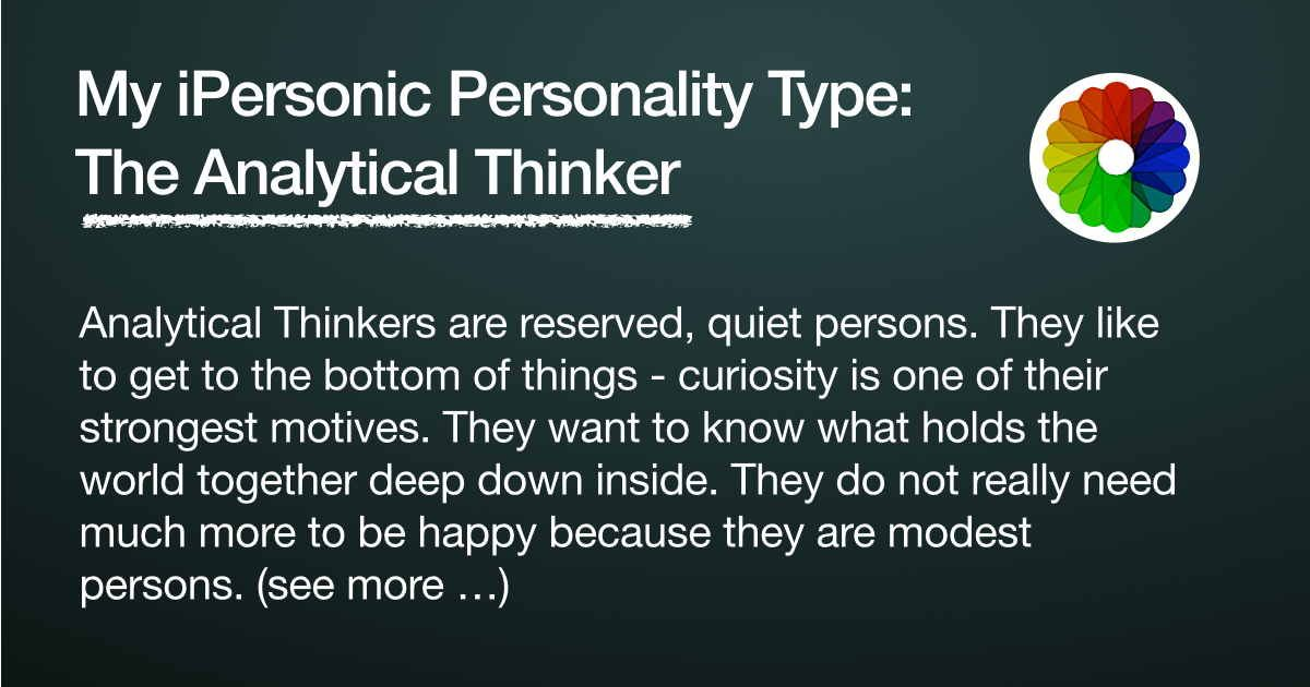 My personality type is