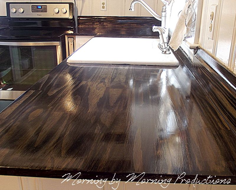 A lovely alternative the stone in the way this wood counter top morning by morning productions diy kitchen countertop solutioingenieria Image collections