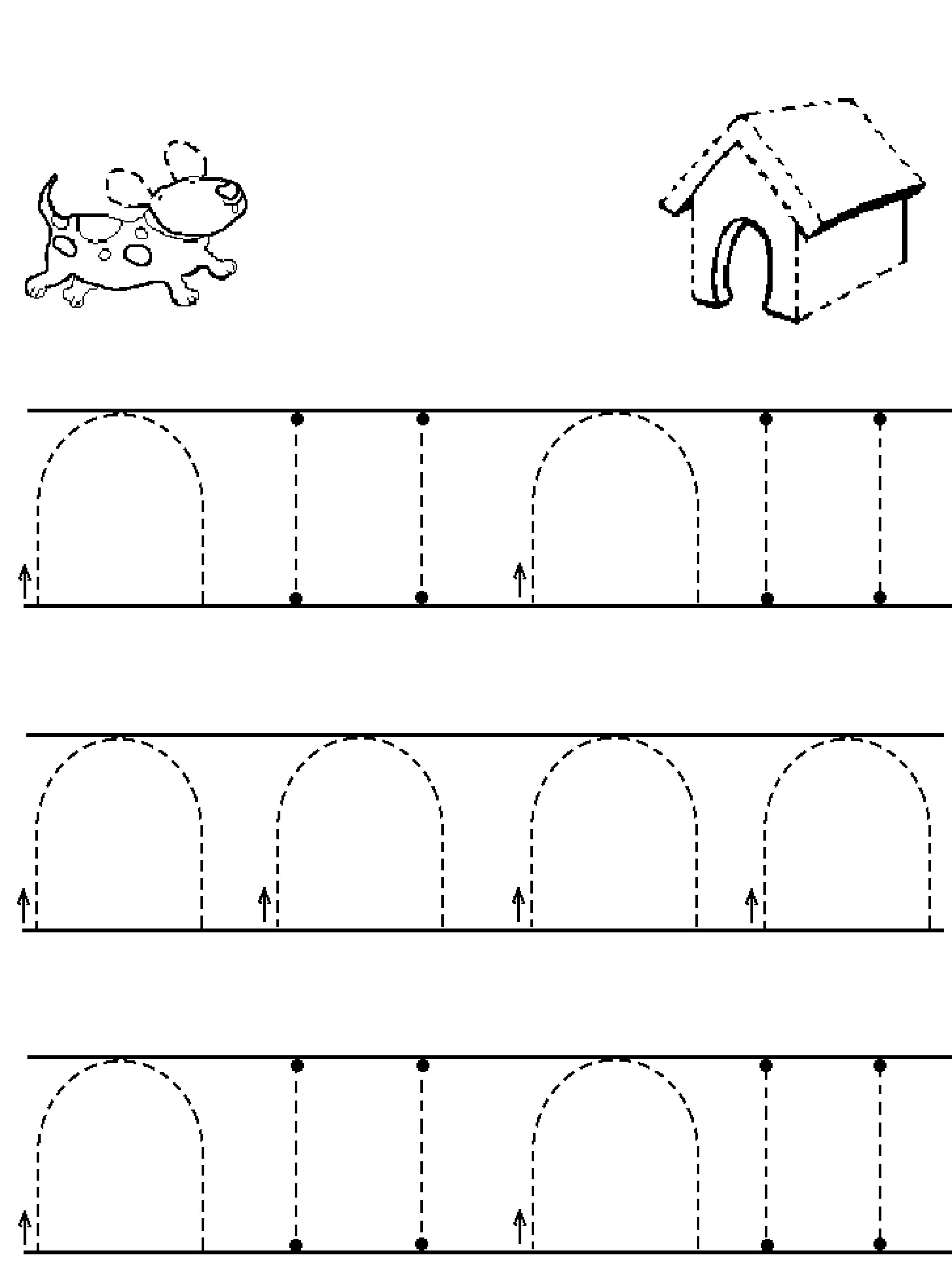 Curved Line Worksheet