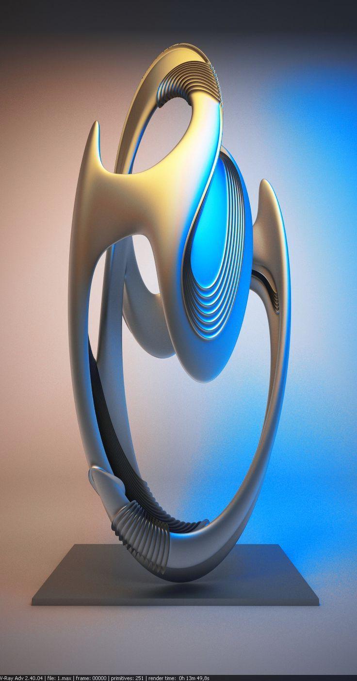 Sculpture Art Abstract Sculpture Fractal Art Sculpture Art Abstract Sculpture Sculpture