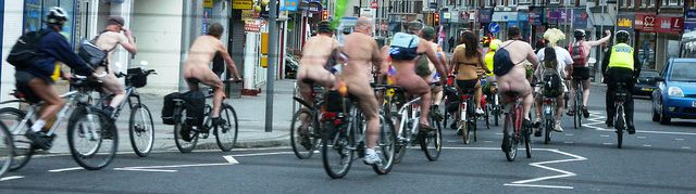 southampton naked bicycle bike ride 2012 by DrJohnBullas, via Flickr