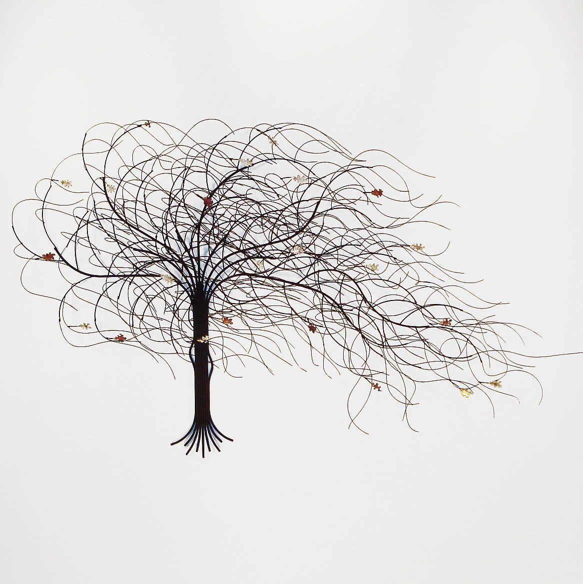September metal tree wall art decor black gurtan metal tree