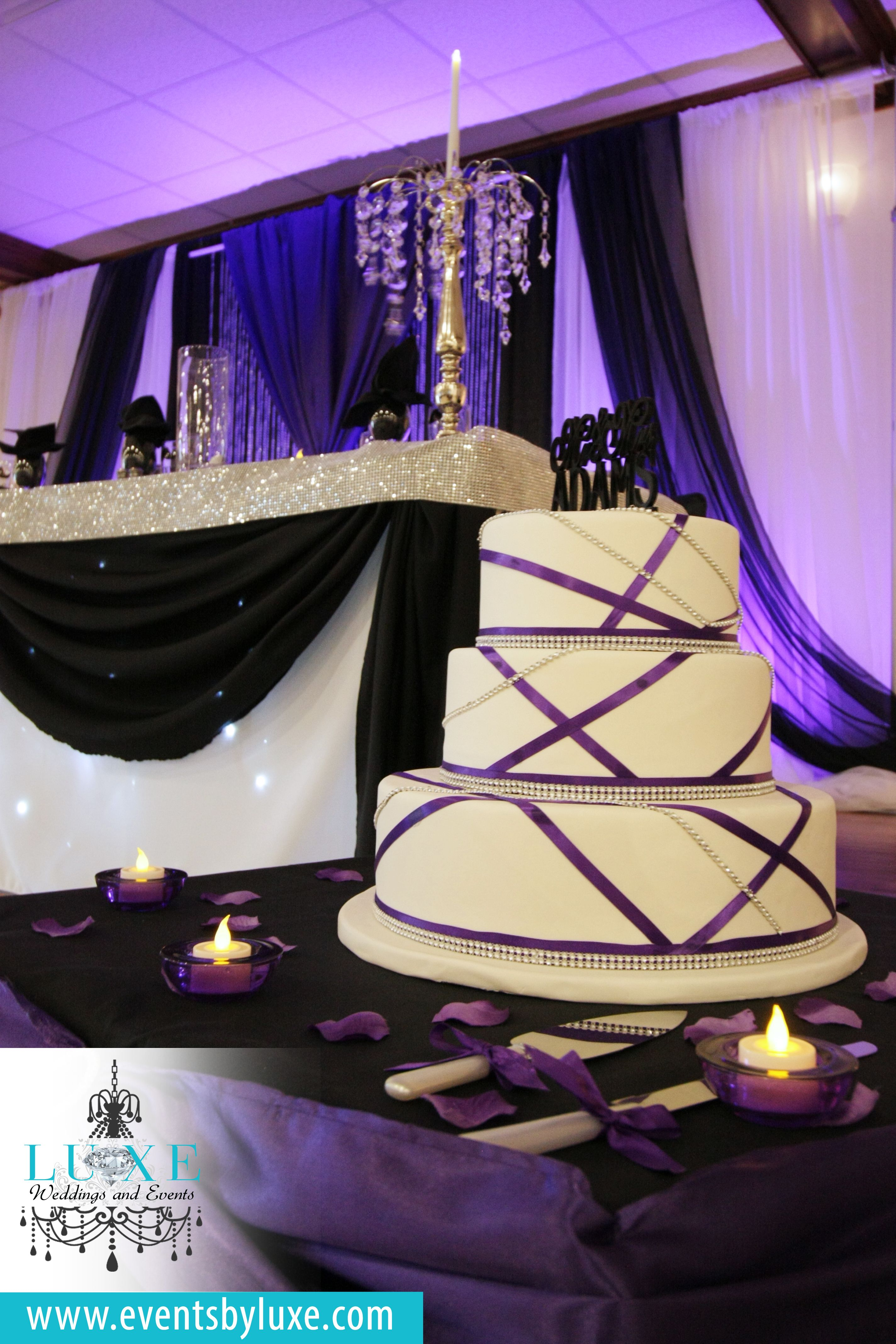 purple black and white wedding backdroppurple uplighting purple black and white damask wedding