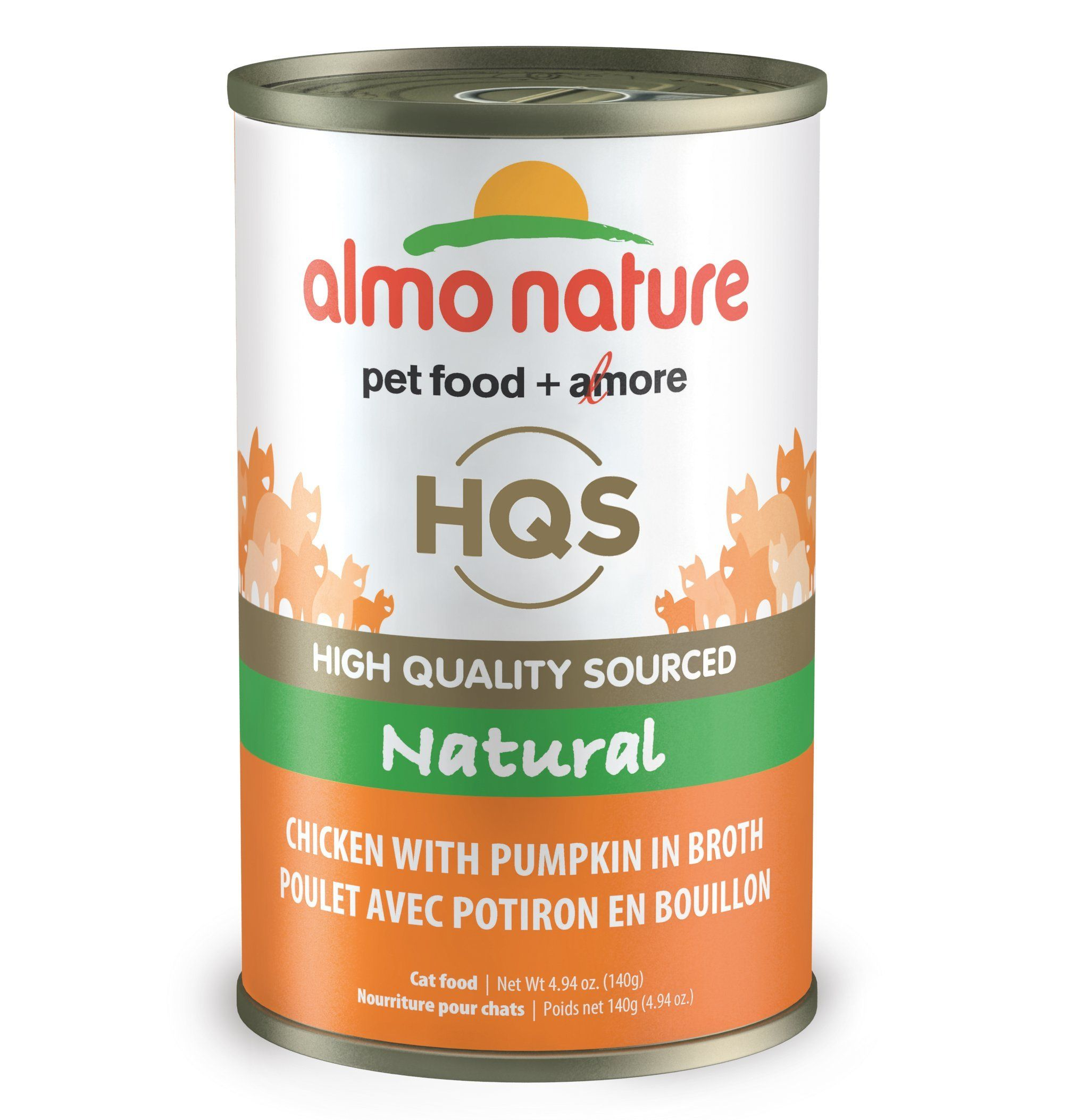 Almo Nature Hqs Legend Natural Cat Chicken With Pumpkin 24 Pack Of 4 94oz 140g Cans Continue To The Product Natural Chicken Canned Cat Food Chicken Pumpkin