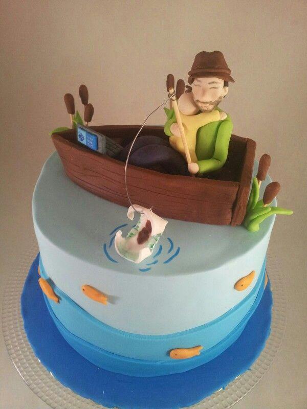 Daddy to befisherman birthday cake By kurabiye Kalibi Pinterest