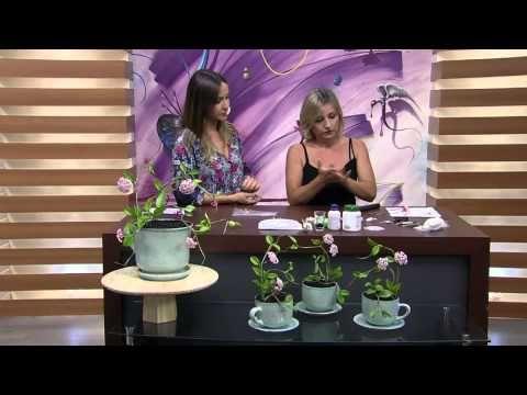 Mulher.com 25/02/2015 Flor de cera em biscuit por Alessandra Assi Parte 1 - YouTube