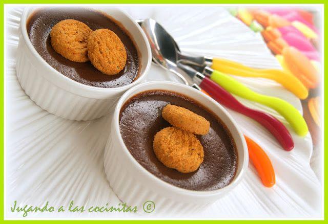 JUGANDO A LAS COCINITAS: Natillas de Nutella (Thermomix y tradicional)