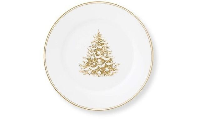 Williams Sonoma Set Of 4 Gold Christmas Tree Salad Dessert Plate 10495868 Williamssonoma Christmas Plates Christmas Salad Plates Plates