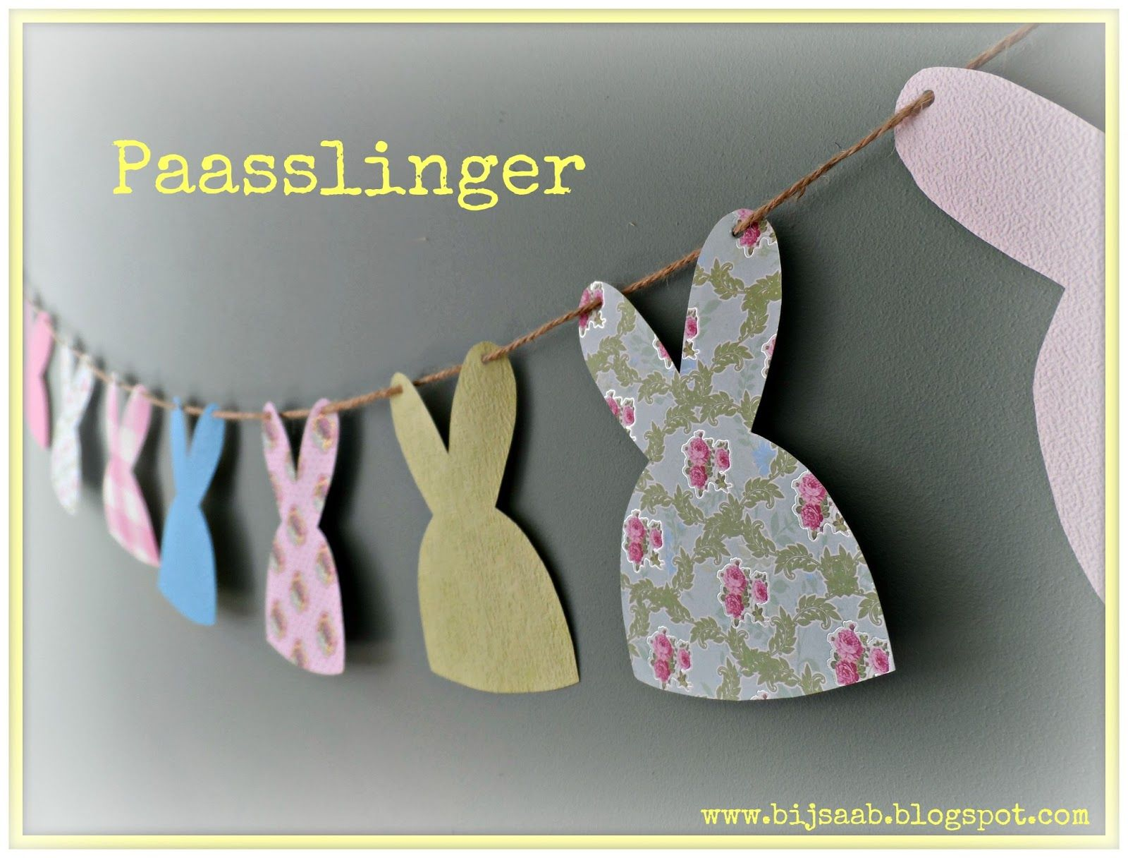 Bij Saab: Paasslinger. #Easter #garland