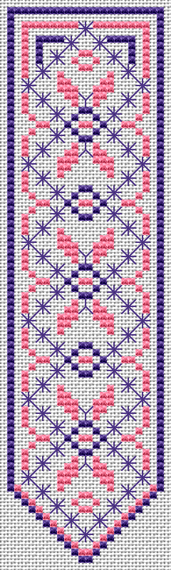 Smyrna Stitch Bookmark free cross stitch pattern