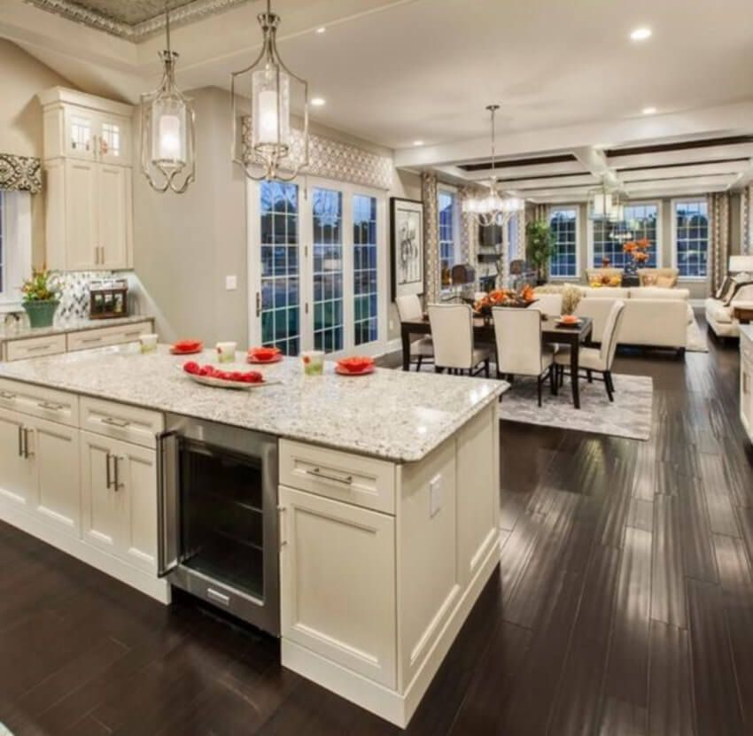 Thinking About An Open Floor Plan Here Are The Pros And Cons Open Concept Kitchen Living Room Open Kitchen And Living Room Kitchen Concepts