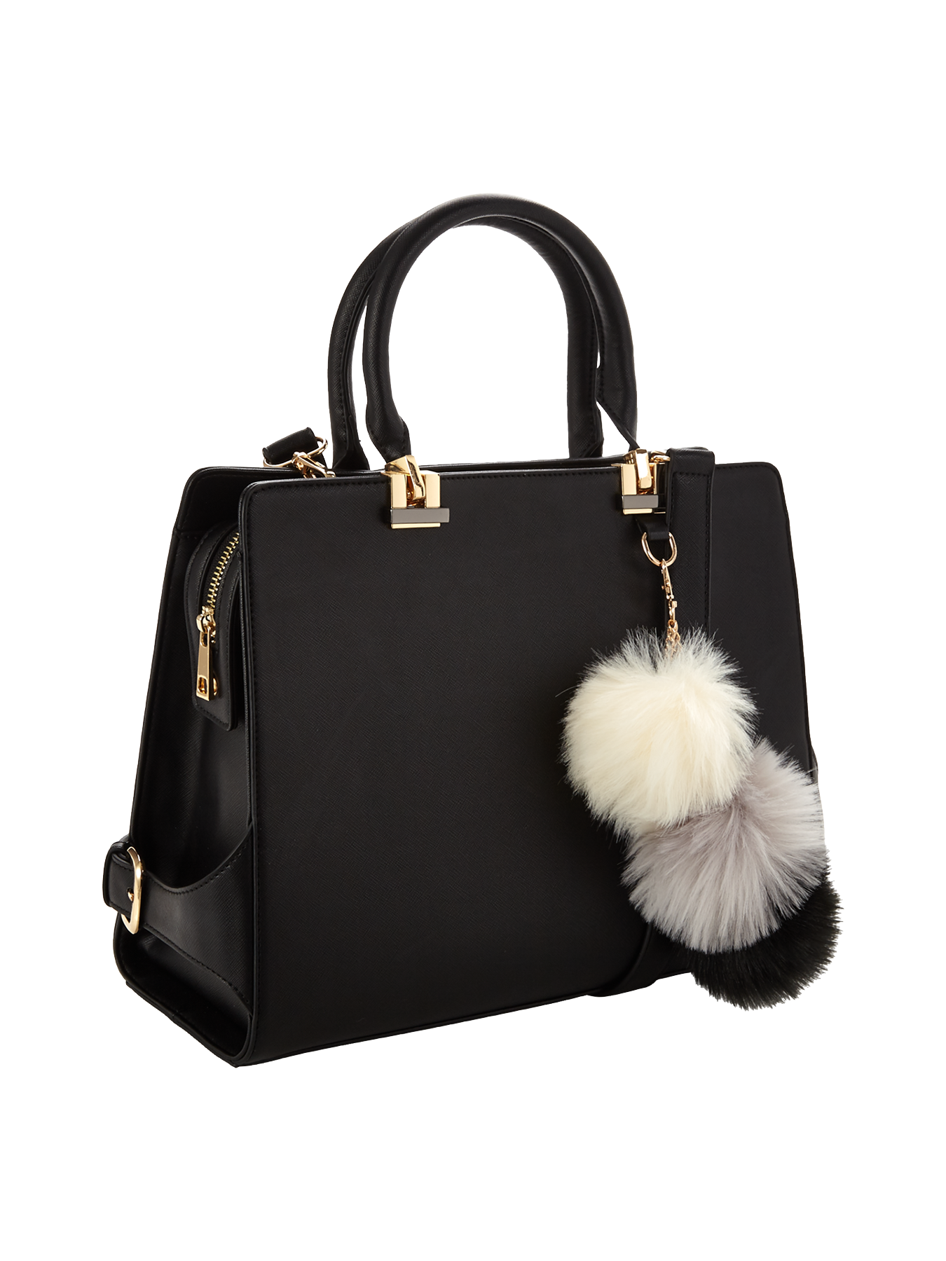 Large Tote Bag With Pom Pom Detail | The shoulder, Pom poms and Bags