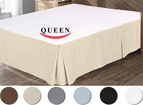 """Utopia Bedding Pleated Bed Skirt 100% Combed Cotton, Quadruple Pleated Design, Fabric Base Allows for Natural Draping, 15"""" Fall Covers Legs and Bed Frame (Queen, Beige) Utopia Bedding http://www.amazon.com/dp/B00JEIJQVI/ref=cm_sw_r_pi_dp_AQgUvb1CWM07B"""