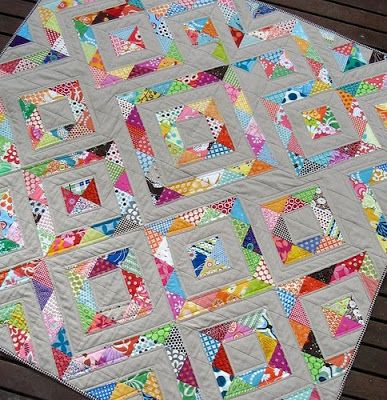 Cabbage Quilts: The wonderful half square triangles | Quilting 101 ... : half square triangle quilt - Adamdwight.com