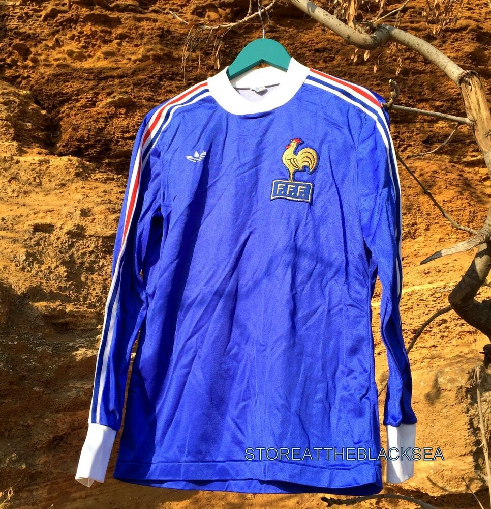 hot sale online b862c 2ff00 FRANCE NATIONAL TEAM 1978 1979 HOME LONG SLEEVE FOOTBALL ...