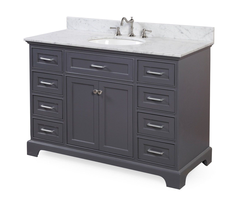 Aria 48 Bathroom Vanity Carrara Charcoal Gray Bathroom Vanity 48 Inch Bathroom Vanity Carrara Marble Countertop