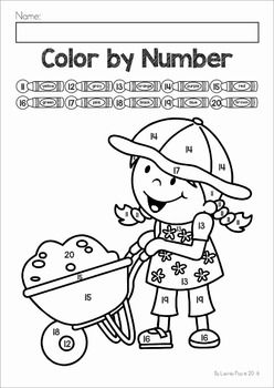 Color By Number Spring Color Coloring Pages For Kids Coloring For Kids
