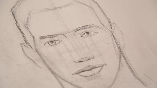 Bir portreye başlarken, bir silindir çizerek başlamak daha doğrusu aks sistemiyle başlamak faydalıdır. Bu aks portrenin nereye doğru eğimli olduğunu gösterir.     Çizilen aksı çevreyeleyen bir elips ...