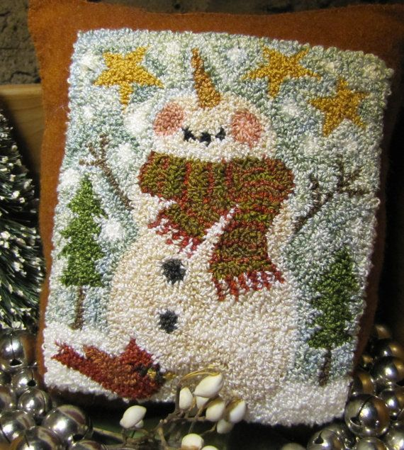 Primitive Punchneedle  Embroidery All Dressed Up