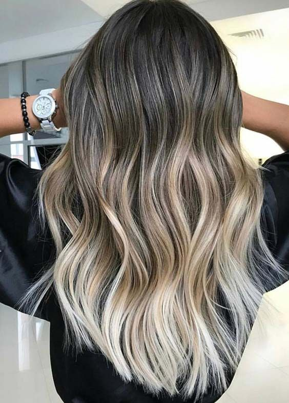 35 best of balayage ombre hair colors for 2018 senah pinterest haar ideen ombr haare. Black Bedroom Furniture Sets. Home Design Ideas