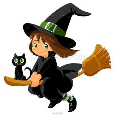 Cartoon Witch Clipart, Royalty Free Baby Girl Wizard Stock Image ...