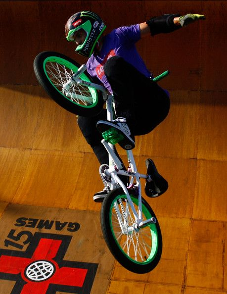 jamie bestwick competes in the bmx freestyle vert final during x games 15 at the home