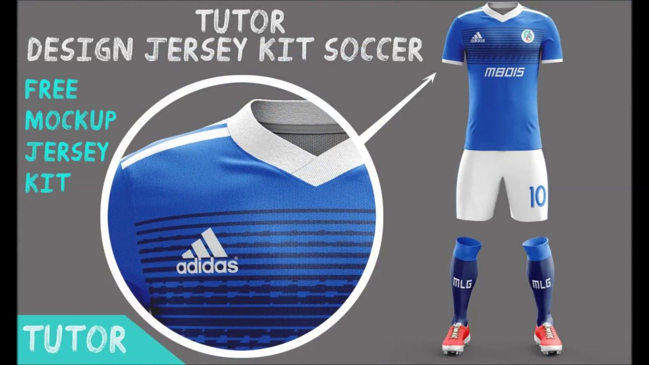 Download Tutorial Design Jersey Kit Socer Mockup Jersey Kit Free Mockup Jerseykitsoccer Template Football Mockup