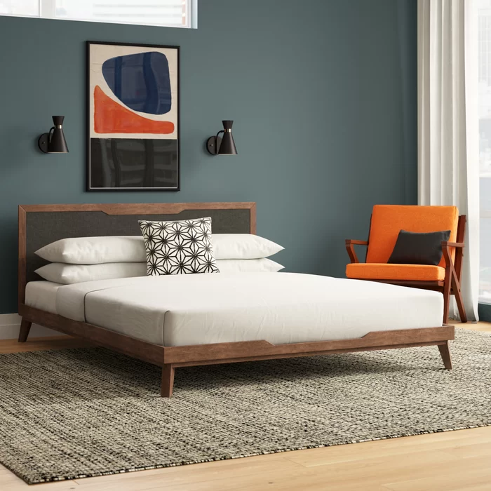 Abie Upholstered Platform Bed In 2020 Upholstered Platform Bed