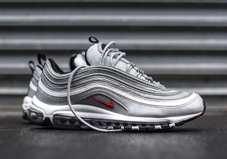 1584cc56d02b Surprise  The Nike Air Max 97 Silver Bullet Is Popping Up At Select At U.S.  Retailers