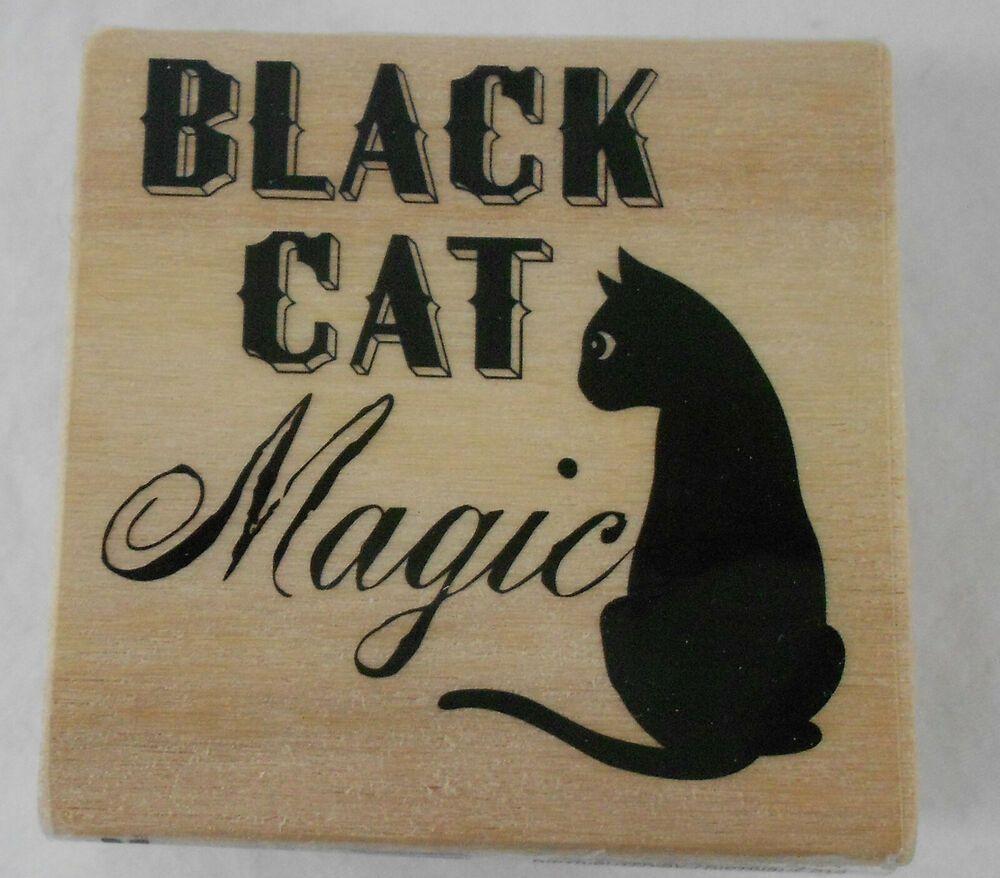 NEW BLACK CAT MAGIC Superstition Words Halloween Craft