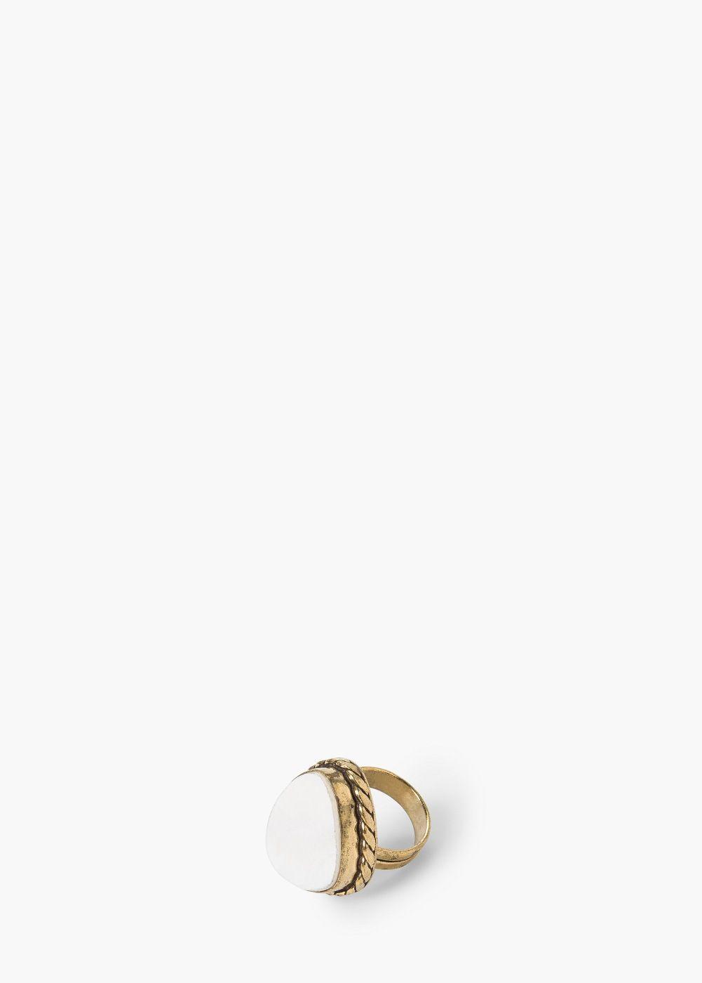 Bague pierre - Bijoux pour Femme | MANGO