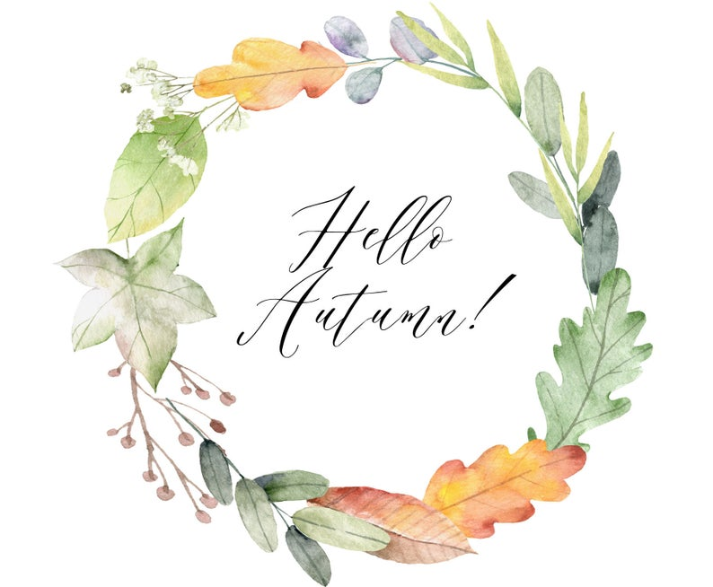 Watercolor Floral Wreath Wreath Clipart Fall Leaf Wreath Etsy Floral Wreath Watercolor Floral Wreath Drawing Wreath Watercolor