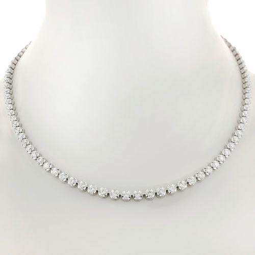 3.41tcw Womens Diamond Tennis Necklace  diamonds  valentinesday  luxury   diamondpendant  famous  diamondsbyal  love bb7104d85