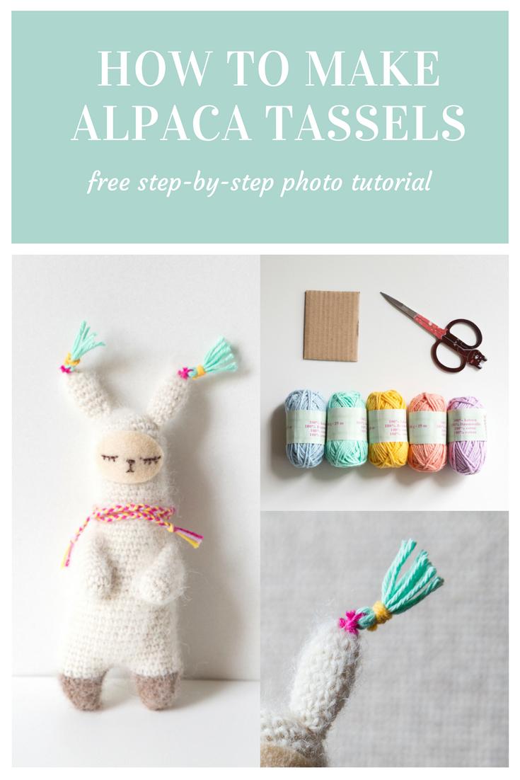Free pattern Alpaca tassels, design by Sweetamigurumidesign ...
