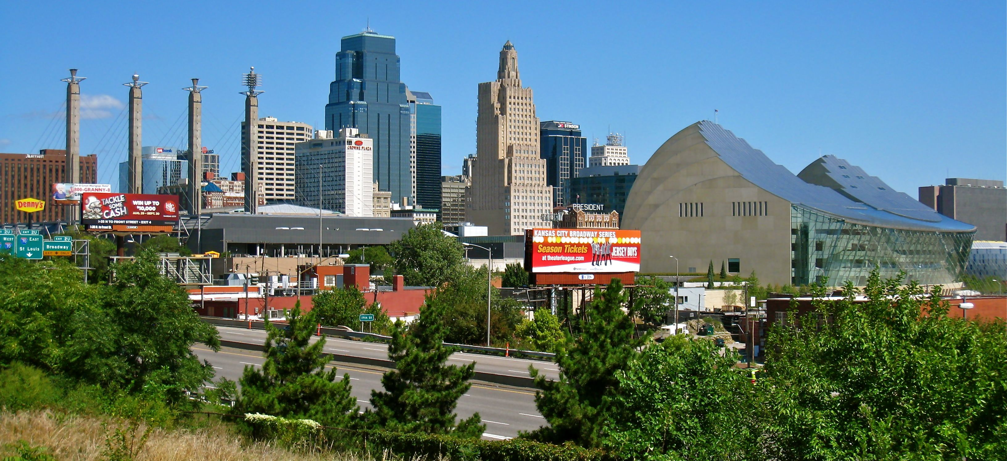 Overlooking Downtown Kansas City Mo With The Bartle Hall Sky